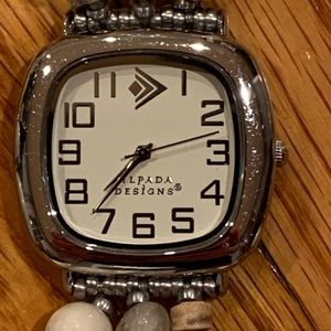 Silpada T1854 Silver Triple Strand Watch